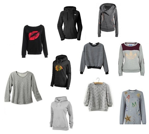 15 Different Types and Patterns of Sweatshirts for Women