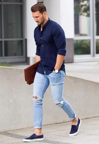 A Summer Cotton Blue Shirt