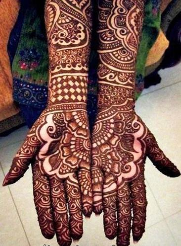Full Hand Mehendi Designs