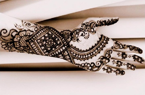 Arabic Stripped Mehendi Design