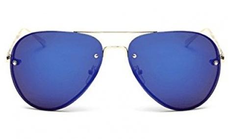 Aviator Style Rimless Sunglasses
