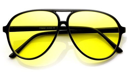 Aviator Yellow Sunglass