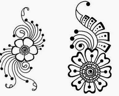 Beautiful Flower Mehndi Stencils