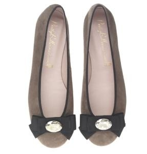 Beige Bowed Pretty Ballerinas