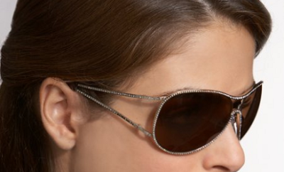 Bejeweled Wraparound Sunglasses