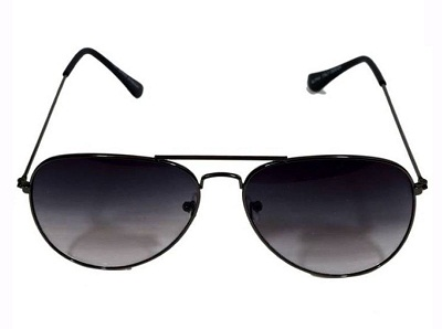 Black Aviator UV Sunglasses