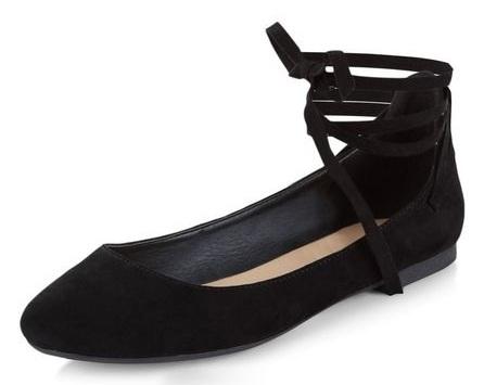 Black Ballet Pumps for Women
