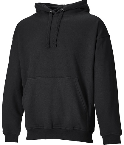 Black Men´s Hooided Sweatshirt with front Pocket - Copy
