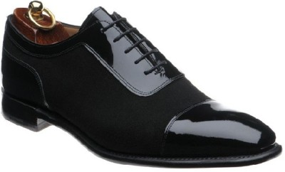 Black Patent and Suede Shoes for Men