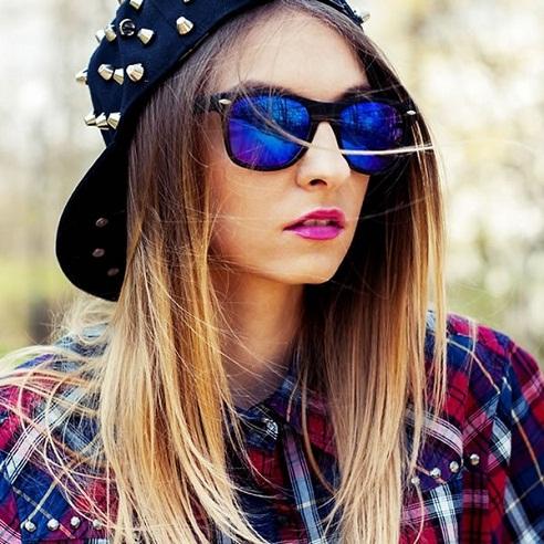 Black Purple Sunglasses