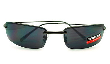 Black Rimless Sunglasses for Men