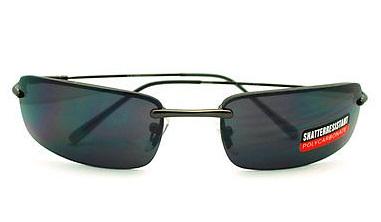 Black Rimless Sunglasses for Men