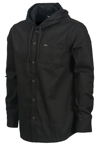 Black men's flannel shirt
