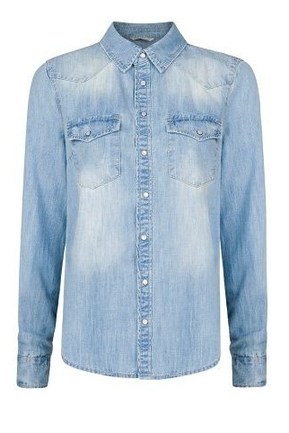 Bleached Effect Designer shirt with Push Buttons