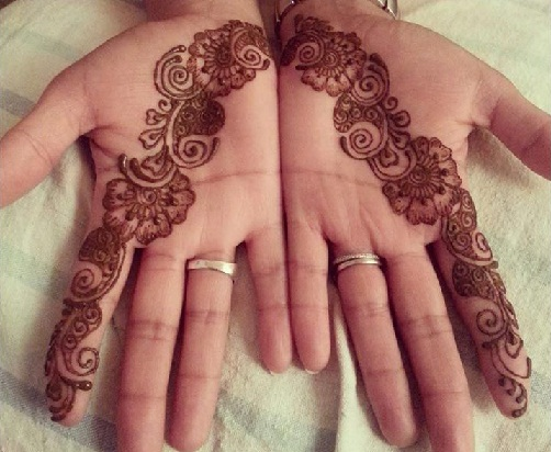 Single Flower Mehndi Designs : Latest single line mehndi designs with pictures