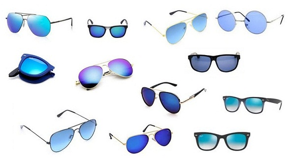 Blue Colour Sunglasses