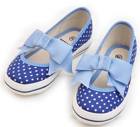 Blue and White Girls Shoe Design