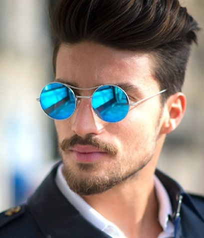Blue circle sunglasses