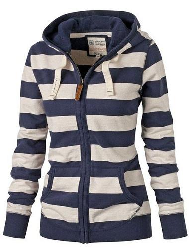 Bold striped Women's hoodie