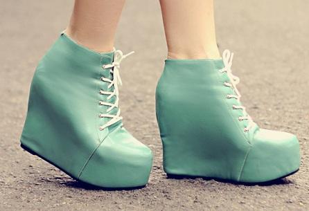 Boots with platform heels