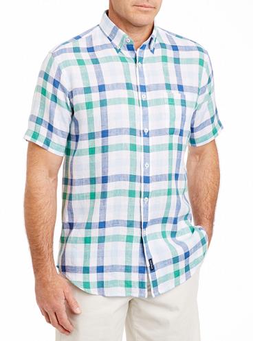 Box Check Linen Shirt