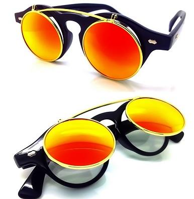 Branded Double Lens Flip up Sunglasses
