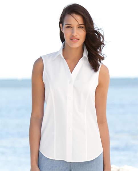 Branded White Sleeveless Shirt for Women10
