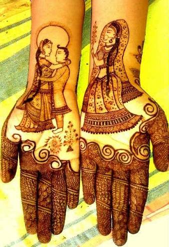 Bride and Groom Palm Mehndi