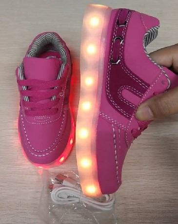 Bright Flashing Led Kids Shoes