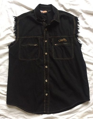 Button up Black Shirt for Biker