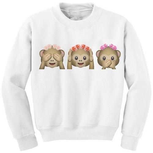 Casual Print Women's Sweatshirt