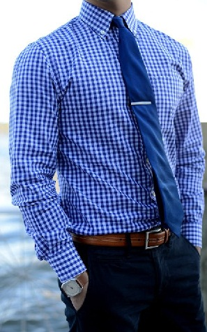 Checked Blue Shirt