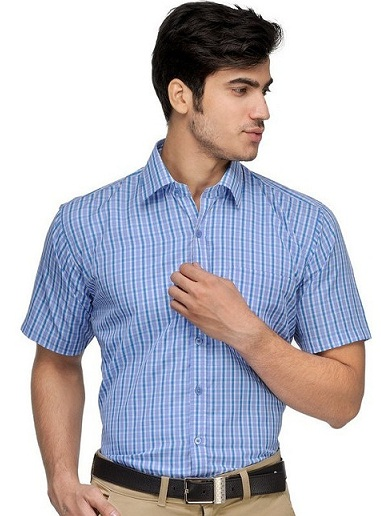 Checked Formal Half Sleeve Shirt
