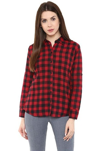 Checked Style Cotton Shirts