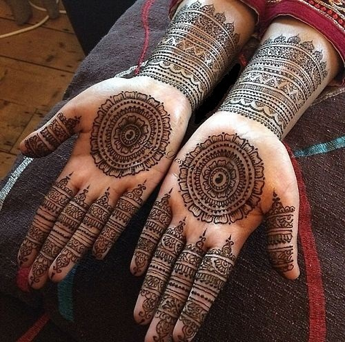 Mehndi Designs Circular : Latest simple mehndi designs for palm styles at life