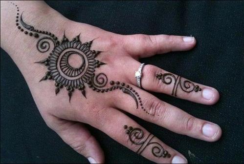 Circular Pattern Ring Style Mehndi Design