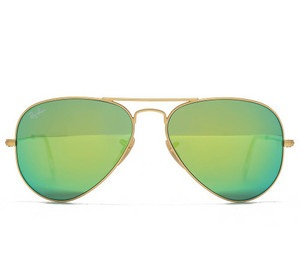 Classic Aviator Green Sunglasses
