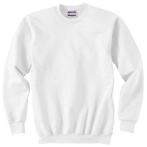 Classic White Men's Sweatshirt