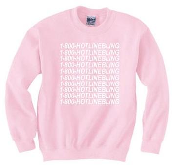 Classic women's Pink Winter sweatshirt