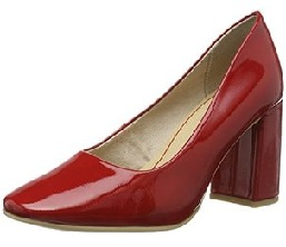 Closed Toe Pump Red Shoe for Women