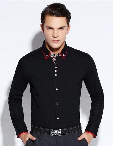 Collar Design Black Shirt