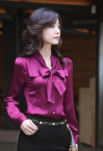 Collared Bow Knot Full Sleeve for Girls
