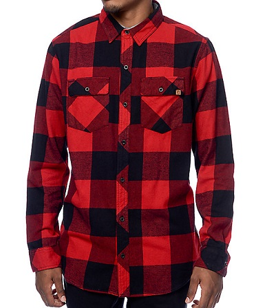 Collared flannel shirt for men