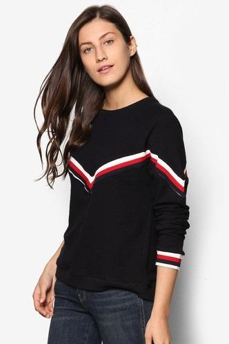 Contrast Trim Women's Sweatshirt