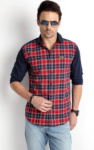 Cotton Multicolored Checkered Shirt