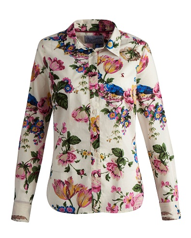 Cotton Shirt in Floral Print