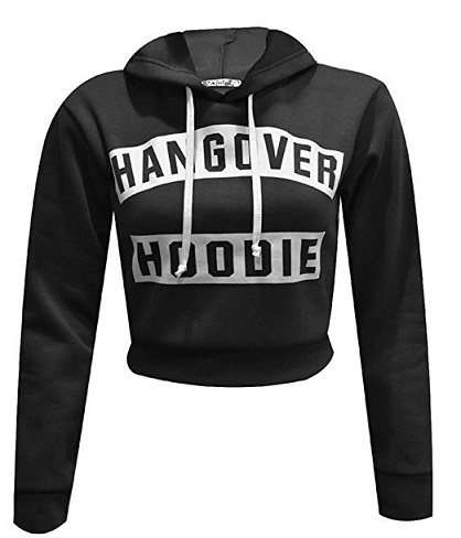 Cropped Printed Women´s Sweatshirt with Hoodie - Copy - Copy