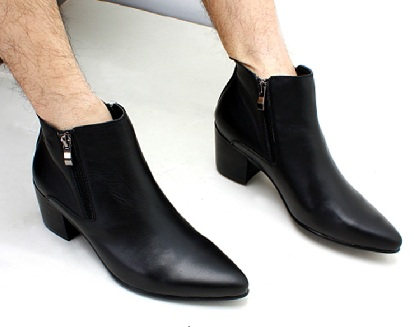 Cuban heel shoes for men