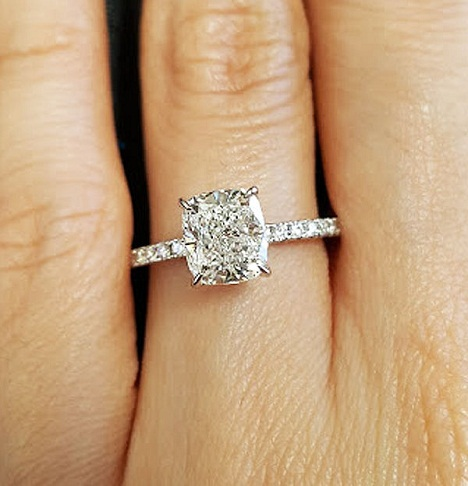 9 best cushion cut engagement rings
