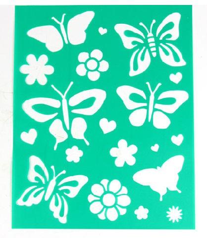 Cute Butterfly Shape Mehndi Stencils
